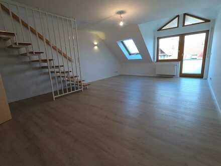 Vollständig renovierte 3-Zimmer-Maisonette-Wohnung mit Balkon und Einbauküche in Aulendorf