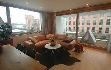 Exklusive 3-Zimmer-Loft-Wohnung mit Balkon am Spinnereipark