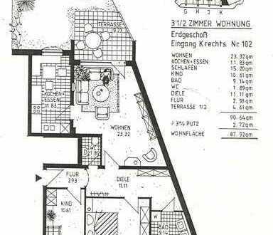 Schöne Wohnung mit kleinem Garten