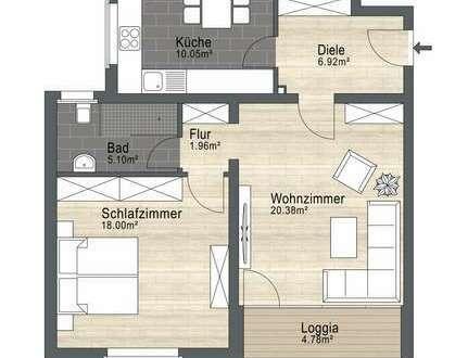 """""""Schöne Aussichten"""" 2-Zimmerwohnung in Hagen-Hohenlimburg.Hier zieht man gerne ein."""