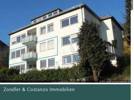 Helle 4,5-Zi.-Wohnung in gefragter Wohnlage mit toller Aussicht *EBK, 2x Balkon, Einzelgarage etc.*