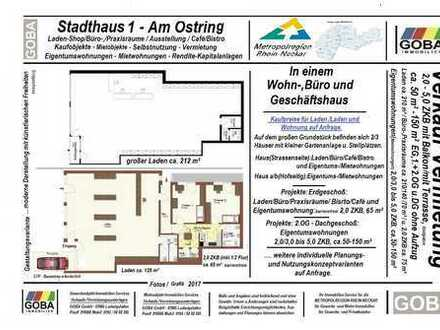 Lu Oppau/Edigh./Kapitalanlage:Laden-/Büro-/Praxisräume/Café u. 2,0 ZKB WHG 210 m² gute Verkaufslage