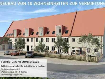 Erstbezug: stilvolle 2-Zimmer-Maisonette-Wohnung mit Loggia in Altomünster
