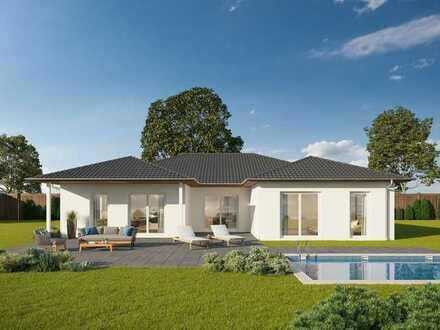 Winkelbungalow mit 205m² inkl. Smart Home und Grundstück