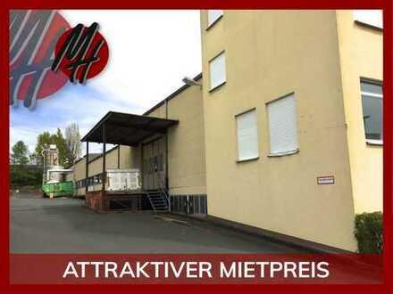 Lager-/Produktionsflächen (750 qm) + optional Büroflächen zu vermieten