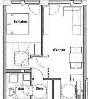 Stilvolle, neuwertige 2-Zimmer-Wohnung mit Balkon und EBK in Erlangen