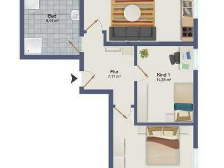 Kernsanierte 3-Zimmer Erdgeschosswohnung mit Stellplatz & Gemeinschaftsgarten - 84140 Gangkofen