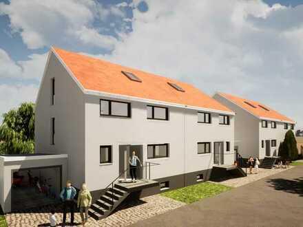 Moderne KfW 55 Doppelhaushälften mit Garten und 226m² Wohn- und Nutzfläche