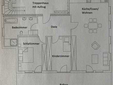 3 Zimmerwohnung mit großem Balkon in Mindelheim zu vermieten