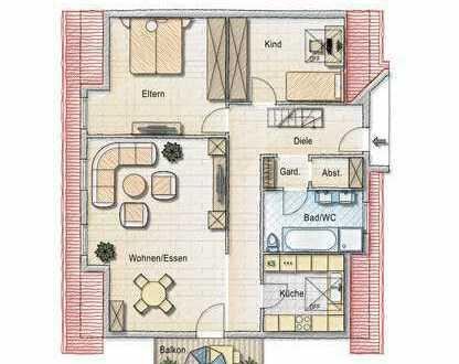 ***Schöne 5,5 Zimmer-Wohnung in Kuppenheim, Zentrale Lage, zu verkaufen***