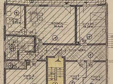 Erstbezug nach Sanierung: attraktive 5-Zimmer-OG-Wohnung mit Balkon in Mainhausen