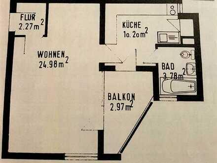 Kapitalanlage: 1-Zimmer-Eigentumswohnung in gepflegter Wohnanlage in Kuppenheim