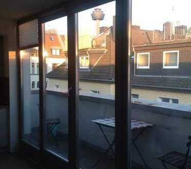 Exklusive 1-Zimmer-Wohnung mit Balkon in Ehrenfeld, Köln
