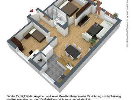großzügige Wohnung mit Balkon 80m²