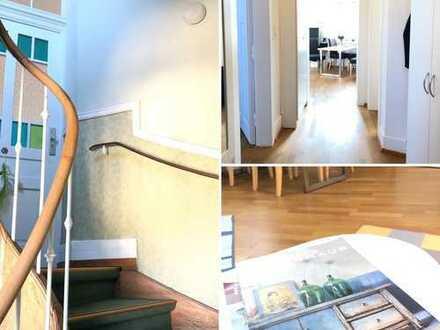 Exklusive 3-Zimmer-Altbauwohnung mit Balkon und EBK in Frankfurt am Main