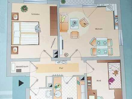 Sie hier? Wir auch! Gut geschnittene 3 Zimmer, Küche, Balkon - Wohnung