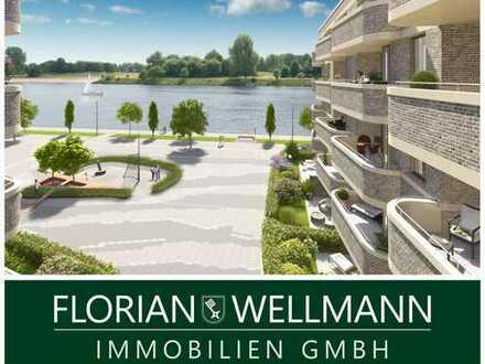 Bremen - Überseestadt   Exklusiv ausgestattete 3-Zimmer-Wohnung mit seitlichem Weserblick