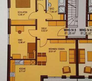 Helle, moderne 3-Zimmer-Wohnung mit Balkon und EBK in Ingolstadt, ruhige Lage