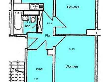 Sanierte 3-Zimmer-Wohnung in Berlin-Plänterwald mit Einbauküche