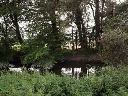 großes individuelles Grundstück in ruhiger idyllischer Orts- u. Naturrandlage, am Möhnefluss liegend