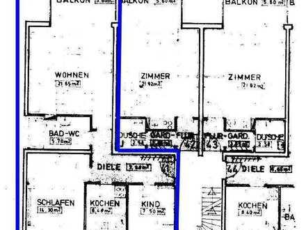3 Zimmerwohnung zwischen Schlierberg und Vauban