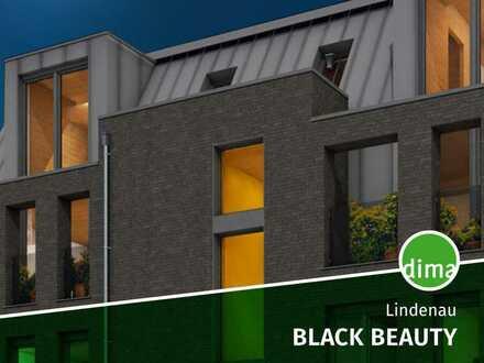 Verkaufsstart BLACK BEAUTY | KfW 40, Massivholz-Hybridbauweise, WE mit großem Balkon, Ankleide usw.