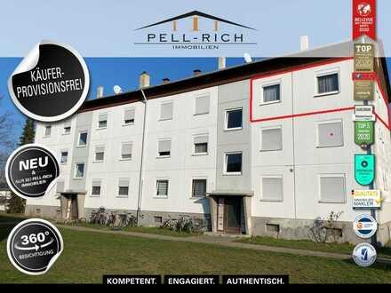 BEZUGSFREI - Helle 3-Zimmer Wohnung mit Balkon KÄUFERPROVISIONSFREI