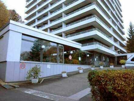 Helle 2 – 3 Zi-ETW mit Top-Ausblick und sonnigem umlaufenden Balkon , kl. Schwimmbad, Sauna, TG-Stel