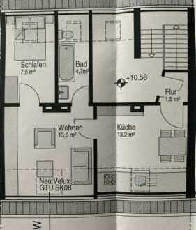 Ansprechende, gepflegte 2-Zimmer-DG-Wohnung in Duisburg
