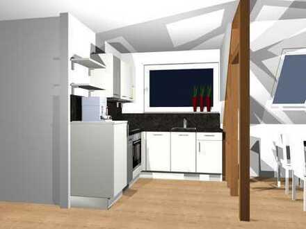 Erstbezug nach Sanierung mit Einbauküche und Balkon: freundliche 2,5-Zimmer-Wohnung in Rheinhausen
