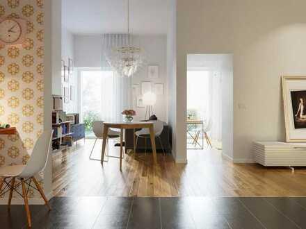 Perfekt geschnittene 2-Zimmer-Wohnung mit Balkon