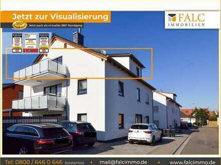 Provisionsfrei! Moderne, neuwertige 3-Zimmer-Wohnung mit Balkon in Maxdorf