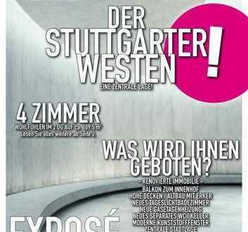 Stuttgart-West - Renovierte 4 Zimmer Altbau Wohnung