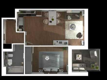 Charmante 2-Zimmer-Wohnung. Ideale Lage, idealer Grundriss - zum selber einziehen oder vermieten