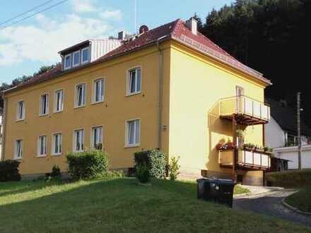 Sonnige Wohnung mit Balkon im Grünen in Krippen bei Bad Schandau