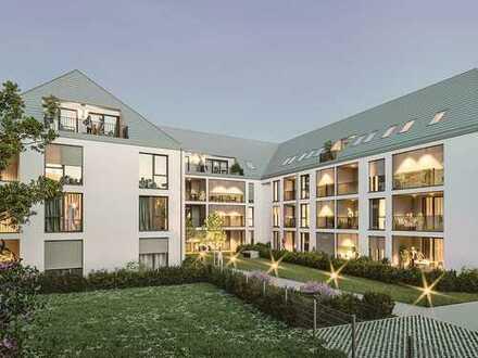 Wunschlos glücklich in toller 4-Zimmer-Wohnung mit ca. 226 m² Garten und großer Loggia