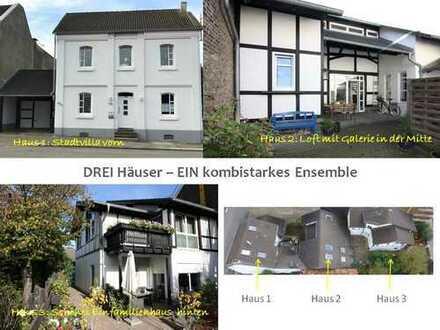 Kombistarkes Triple: Drei liebenswerte Häuser auf einem Grundstück zu kaufen