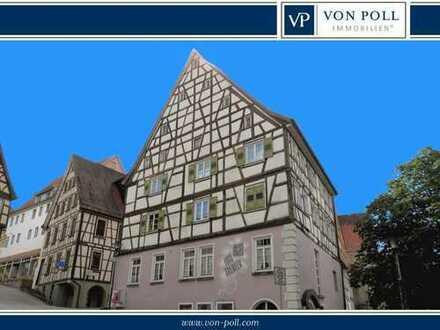 Markantes Fachwerkhaus in der Horber Kernstadt