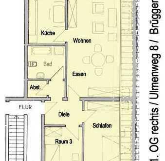 Schöne ruhige 3-Zimmer-Wohnung mit Balkon in Brüggen
