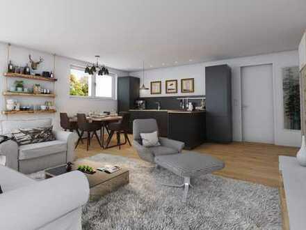 3 Zimmer Erdgeschosswohnung mit über 150 m² Gartenanteil und zwei Bäder