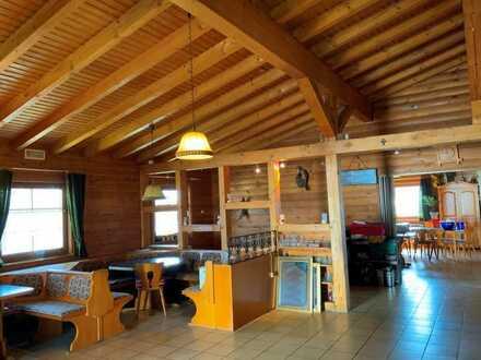 1880 m² Areal mit Bungalow (Holzhaus),  aktuell Gaststätte