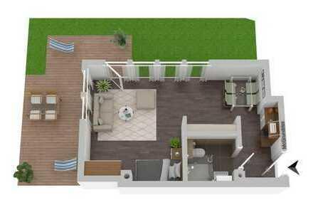 Luxus-Appartement: Sonnenterrasse, Einbauküche, Eicheparkett, barrierefrei und Tiefgaragenstellplatz