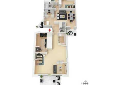SCHWIND IMMOBILIEN - Raumwunder: 5-ZW mit 3 Balkonen, EBK und Carport-Stellplatz