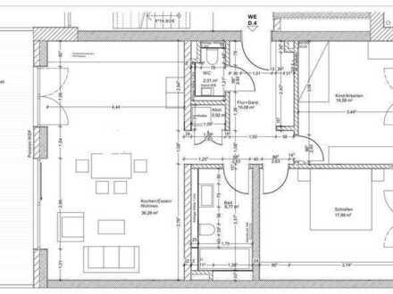 Erstbezug: schöne 3-Zimmer-Wohnung mit Einbauküche und Balkon in Bruchsal