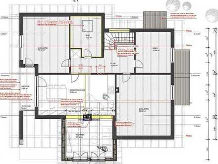 Attraktive 4-Zimmer-DG-Wohnung mit Balkon und Einbauküche in Osterberg