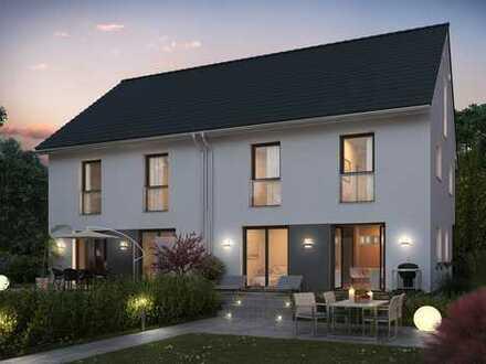 Feldrandlage in Aschaffenburg - Doppelhaushälfte in Massivbauweise - STEIN auf STEIN