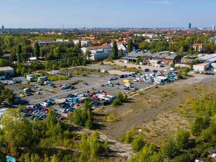 Zu vermieten: Große Gewerbefläche mit Lagerhalle und Stellplätzen in Leipzig – ab 0,99 €/m²