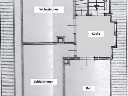 2-Zimmer Mansardenwohnung im 1. Stock eines gepflegten Altbaus im Herzen von Solln
