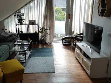 Erstbezug nach Sanierung mit EBK + Balkon: stilvolle 1-Zimmer-Wohnung: 48qm Wfl+NF