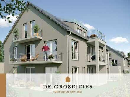 Dr. Grosdidier: Gemütliche 2-Zi.-DG-Whg. mit Balkon! Neubau! Erstbezug!